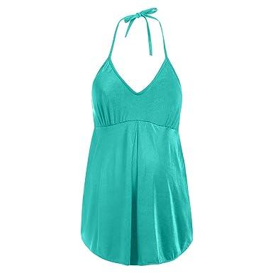 cd4704ce84703 Enceinte Femme Maillot de Bain 1 Piece Grossesse Bikini Maternité Top à  Bretelle de Plage Ete Bonjouree: Amazon.fr: Vêtements et accessoires