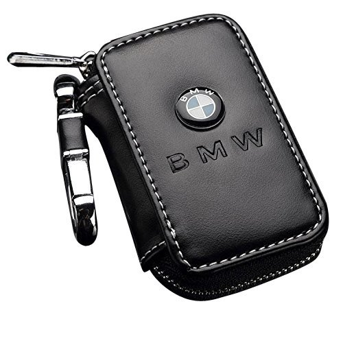 Bearfire Leather Car Key Case Remote Control package Auto Key Chains for BMW Accessory