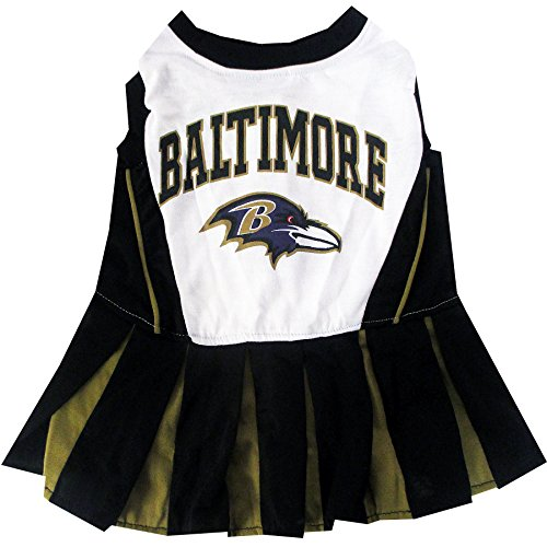 picture of Pets First Baltimore Ravens Cheerleader Dress, Medium