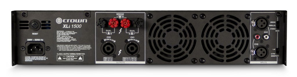 Crown XLi1500 Two-channel, 450W at 4Ω Power Amplifier by Crown (Image #1)