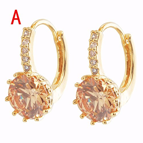 Wensltd Clearance! 1 Pairs Women Girls Cute Lady Crystal Rhinestone Earrings Elegant Jewelry (A-1)
