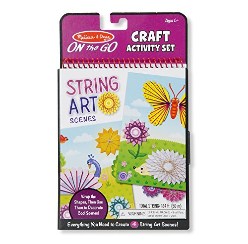 Melissa & Doug On-The-Go Crafts String Art Scenes Activity Set