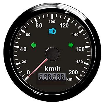 Velocímetro GPS para motocicleta de 0 a 200 km/h con luz de fondo ajustable 85 mm: Amazon.es: Coche y moto