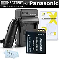Battery and Charger Kit For Panasonic LUMIX DMC-ZS100, DMC-ZS60, DMC-ZS60K, DMC-ZS60S, DMC-ZS100k, DMC-ZS100s, GX85 Digital Camera Includes Extended Replacement (1200Mah) DMW-BLG10 Battery + Charger +