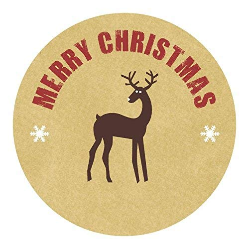 hiusan Personalised Christmas Labels - Reindeer