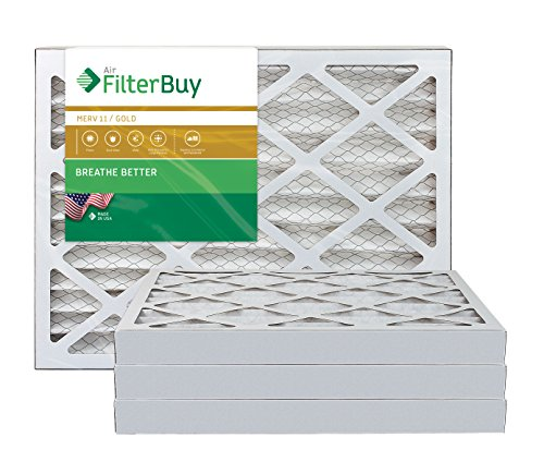 AFB Gold MERV 11 22x36x2 Pleated AC Furnace Air Filter. Pack of 4 Filters. 100% produced in the USA.