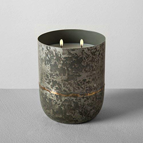 - Hearth and Hand with Magnolia Galvanized Container Soy Candle 25oz Cedar Magnolia Joanna Gaines Collection Limited Edition