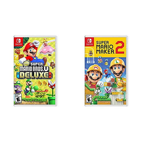 New Super Mario Bros. U Deluxe – Nintendo Switch Bundle with Super Mario Maker 2 – Nintendo Switch