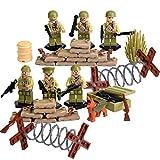 SuSenGo World War II Set US Commandos Brothers Team Marine Corps RPG Battlefield Minifigures Building Blocks Toys