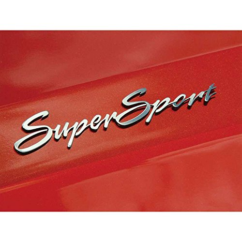 Eckler's Premier Quality Products 33297093 Camaro Polished Stainless ''Super Sport'' Script Badges by Premier Quality Products