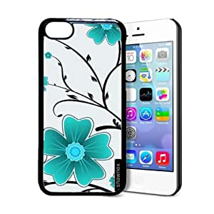 Shawnex Flower Pattern iPhone 5C Case - Thin Shell Plastic Protective Case iPhone 5C Case