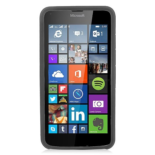 Microsoft Lumia 640 Case, Eagle Cell Dual Layer [Shock Absorbing] Protection Hybrid Rubberized Hard PC/Silicone Case Cover For Microsoft Lumia 640, Black