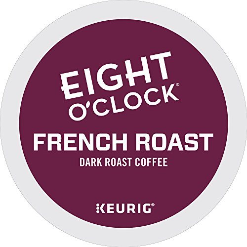 Eight O'Clock Coffee French Roast, Keurig Single-Serve K-Cup Pods, Dark Roast Coffee, 72 Count (6 Boxes of 12 Pods)