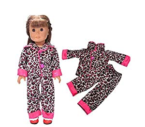 Fashion set pajamas clothes and accessories 18 inch American girl's doll