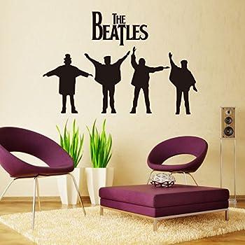 Fange DIY Removable The Beatles Art Mural Vinyl Waterproof Wall Stickers  Bed Room Decor Livingroom Decal Part 45