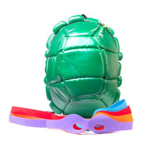 Tortugas ninja – Mochila caparazón de las Tortugas Ninja con máscaras de ojos (Bioworld)