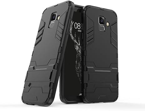 XIFAN Funda para Samsung Galaxy A6 2018, Soporte Plegable Case, Negro: Amazon.es: Electrónica