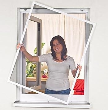 Mako Easy Life - Mosquitera, Red de protección contra insectos con marco de aluminio blanco 120 x 140 cm: Amazon.es: Bricolaje y herramientas