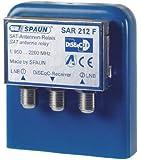 Spaun SAR 212 WSG Sat Antenne Relay für 2x Universal LNB