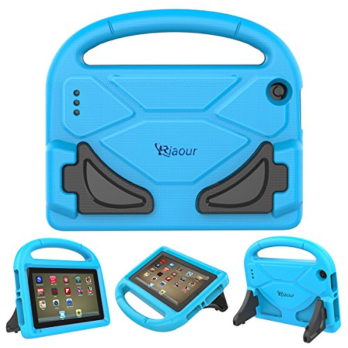 Click to buy Fire 7 2015 Case,Fire 7 Case 2017,Riaour Kids Shock Proof Protective Cover Case for Amazon Fire 7 Tablet (5th Generation 2015 / 7th Generation 2017) (Blue1) - From only $8.99