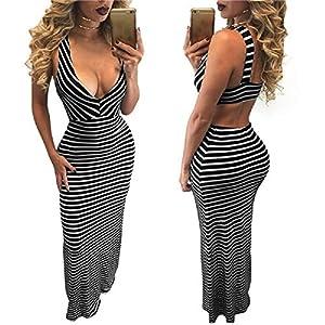 XJoel Sexy col en V profond Halter jupe moulante mini robe lingerie adulte femmes Plus Size