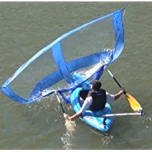 Sailskating LLC Downwind Super Kayak Sail Kit (Blue) - Compact, Portable, Easy Set up and Deploys Quickly. Start Sailing This season!