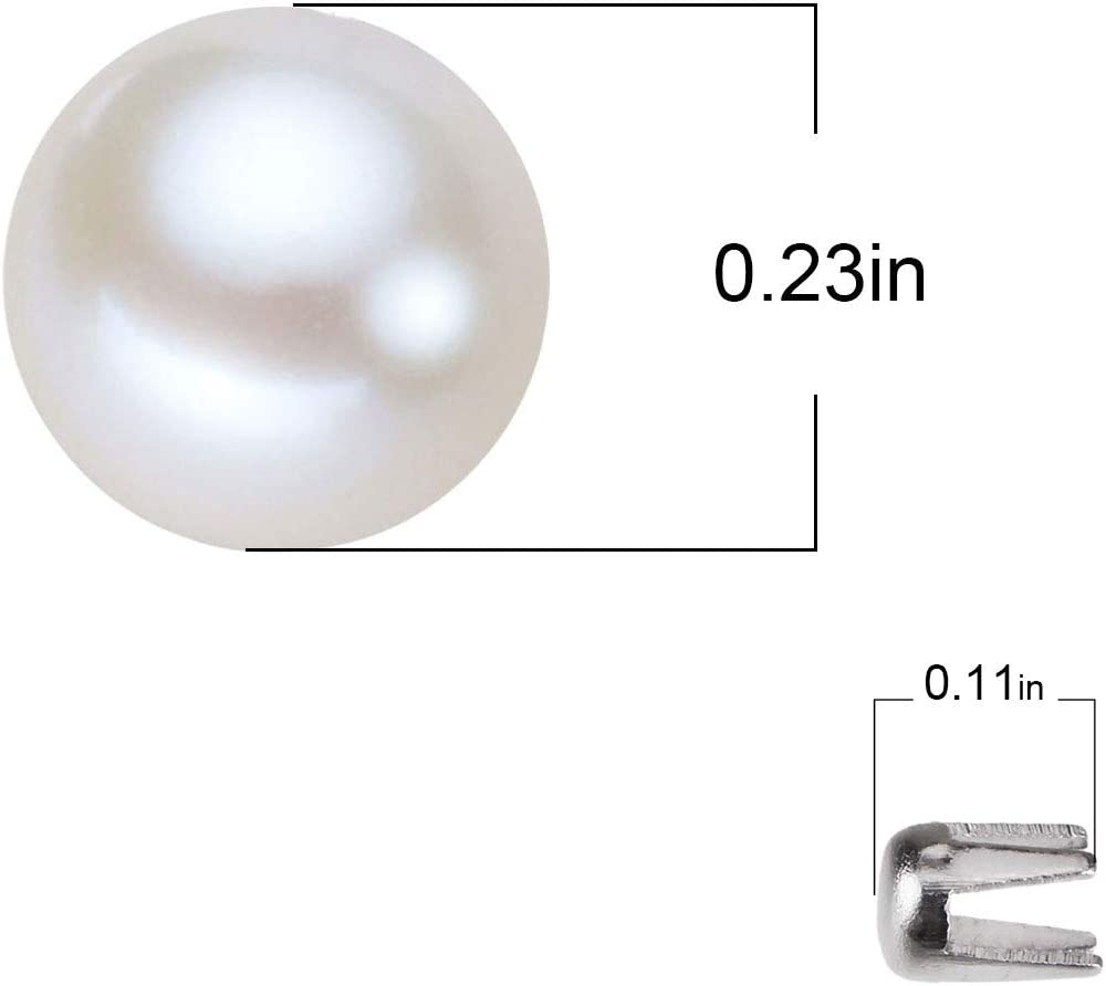 CCINEE 4MM Double Cap Rivets Round Rivet Fasteners for Beading Craft Decorations 4 mm Cap, Silver