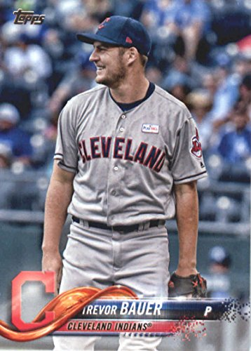 2018 Topps Baseball Series 2#413 Trevor Bauer Cleveland Indians Official MLB Trading Card