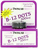 Twinlab, B-12 Dots, 500mcg, 100 Tablets