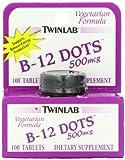 Twinlab, B-12 Dots, 500mcg, 100 Tablets
