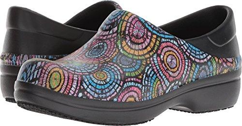 crocs Women's Neria Pro II Graphic Clog W Shoe, black/multi, W8 M US