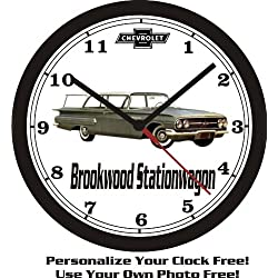 1960 CHEVROLET BROOKWOOD SW WALL CLOCK-FREE USA SHIP!