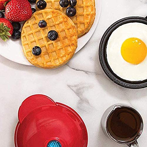 Electric Waffle Maker for Waffles, Mini Waffle Machine for Paninis, Cookies, Hash Browns Other On The Go Breakfast, Lunch, or Snacks