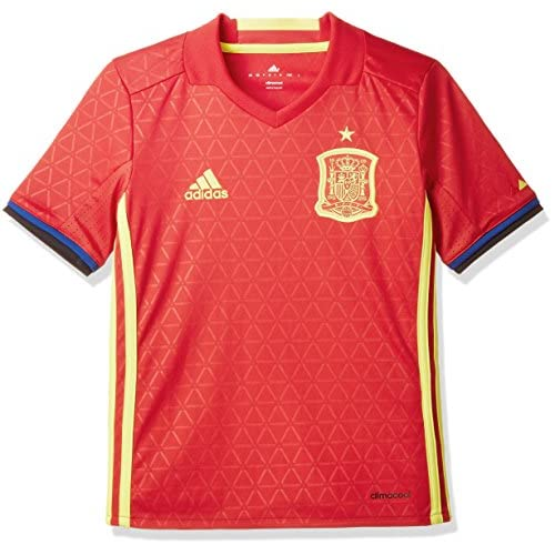Cheap Adidas Spain UEFA Euro 2016 Home Jersey - Youth - Scarlet Red/Bright Yellow - hot sale