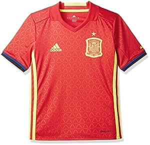 adidas FEF H JSY Y Camiseta Selección Española de Futbol 1ª Equipación 2016/2017, Niños, Rojo/Amarillo/Azul, 128