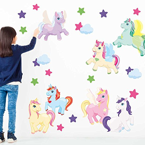 Enchanted Unicorn Wall Decal Set – Unicorn Wall Decal By Chromantics