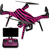 MightySkins Protective Vinyl Skin Decal for 3DR Solo Drone Quadcopter wrap cover sticker skins Pink Zebra