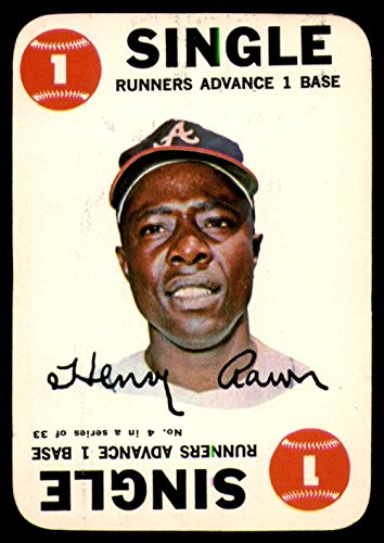 1968 Topps Game #4 Hank Aaron Ex-Mint - Topps Game 1968