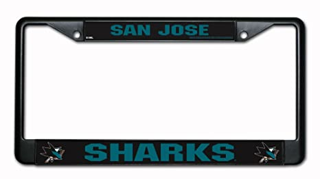 Image Unavailable. Image not available for. Color  San Jose Sharks Black  Chrome License Plate Frame 12ed82ab0a16