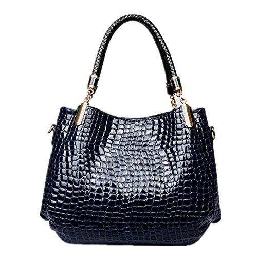 patrón de la vendimia de la mujer Xagoo del bolso de Crossbody PU los bolsos de cuero del nuevo diseño del bolso + Bolsa de viaje (Estilo 1) Estilo 2