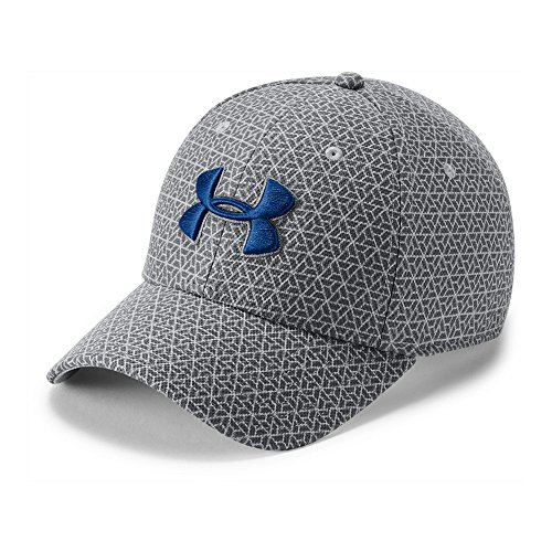 Under Armour Men's Printed Blitzing 3.0 Stretch Fit Cap, Steel (036)/Royal, Large/X-Large -  191632314891