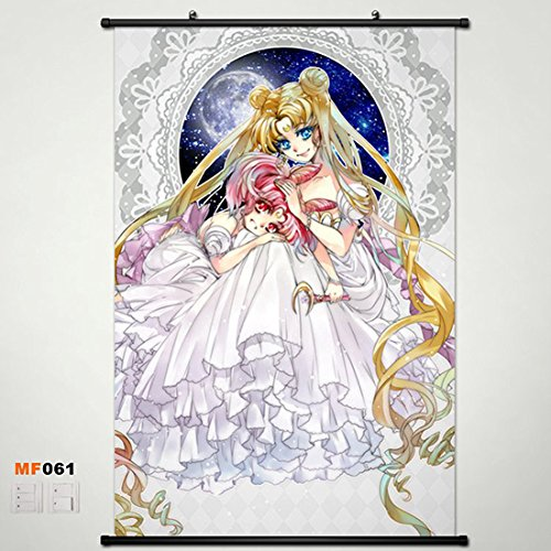 Sailor Moon Home Decor Anime Wall Scroll Poster Fabric Painting 23.631.5 inch 61 (Moon Wall Sailor Scrolls)