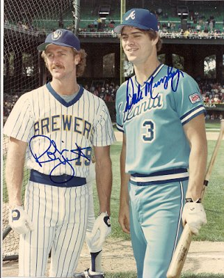 Autographed Photo Robin Yount & Dale Murphy Milwaukee Brewers