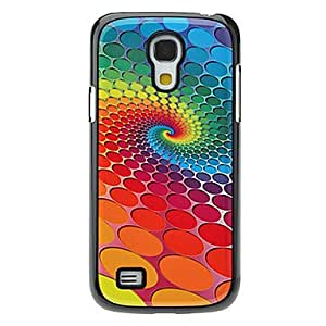 Rotating Colorful Wave Point Pattern Aluminum Hard Case for Samsung Galaxy S4 mini I9190