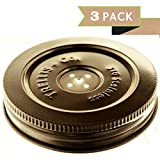 in a pickle jar - T&Co. 316 STAINLESS Fermentation Lids – 3 Silicone Waterless Airlocks Lids with Instructions – Easy Lacto Fermenter Jar Lids for Sauerkraut/Pickle/Vegetable/Kefir Fermenting in Wide Mouth Mason Jars