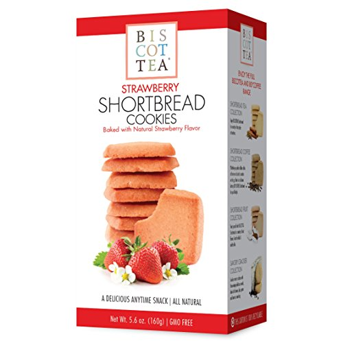 BISCOTTEA Strawberry Shortbread Cookie (8 Cookies) (Shortbread Strawberry)