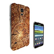 002529 - Real Wood Branch Look Fun Design Samsung Galaxy S5 / Galaxy S5 Neo Fashion Trend CASE Gel Rubber Silicone All Edges Protection Case Cover