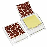 Giraffe Print Sticky Note Holder - Wildlife Animal Theme Design - Stationery Gift - Office Business School Supplies