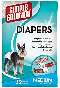 Simple Solution Pañales para perros, desechables: Amazon.es: Productos para mascotas