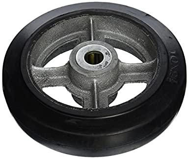 "Wesco 150596 10 ""de diámetro de hierro fundido centro rueda de goma moldon,"